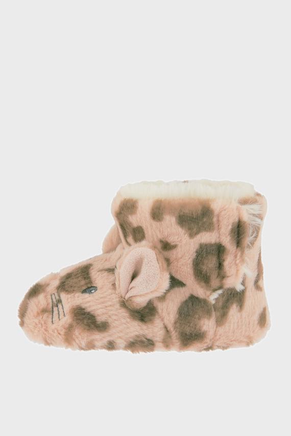 Детские леопардовые домашние тапочки BABY LEONA LEOPARD SLIPPER BOOTS