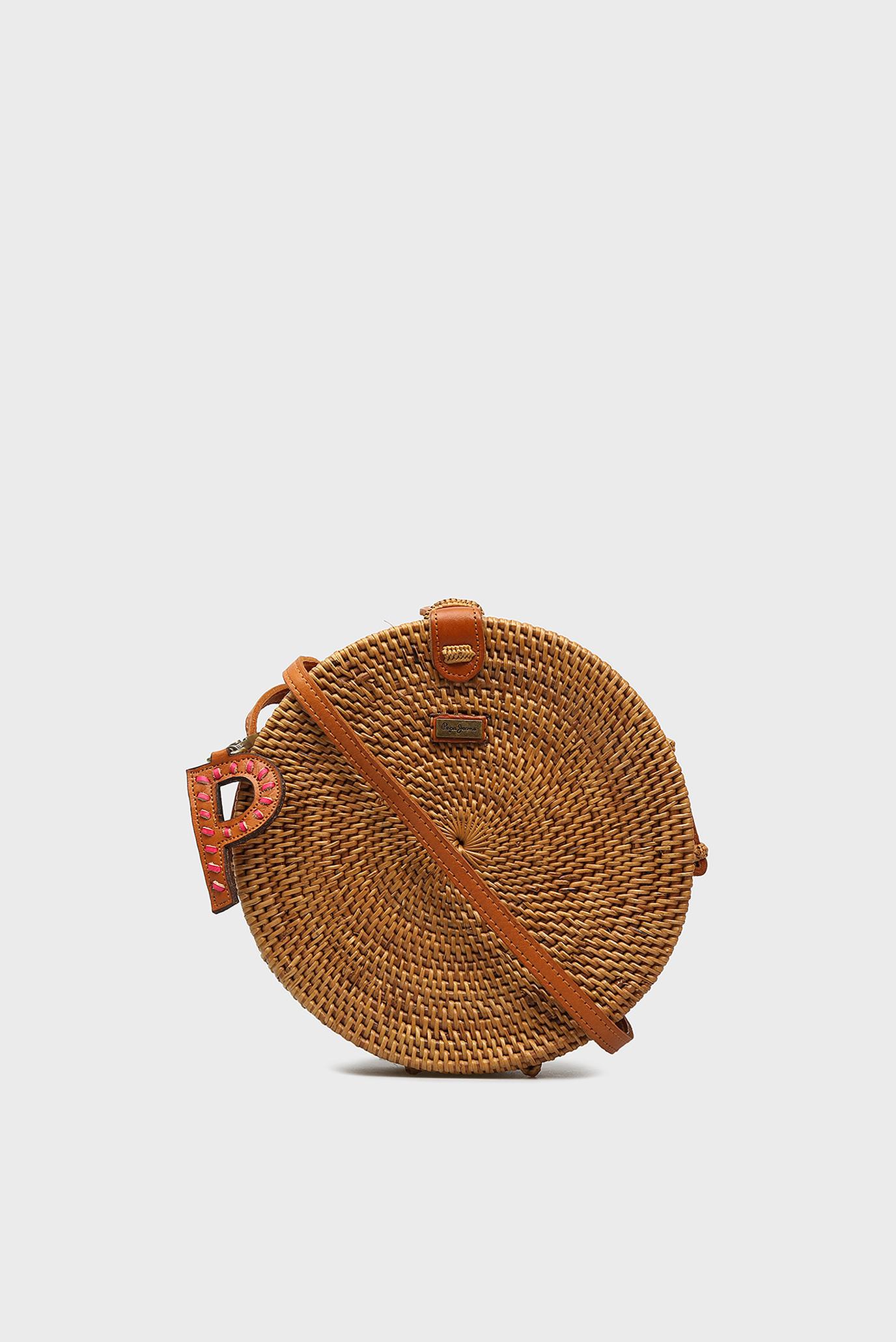 Женская коричневая соломенная сумка JOANNE Pepe Jeans