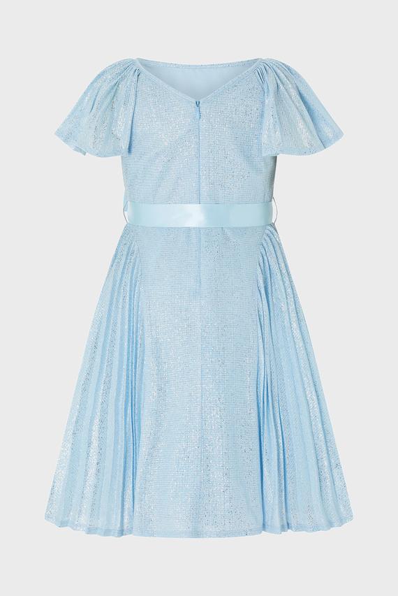 Детское голубое платье ICE GUILDED PLEAT DRESS
