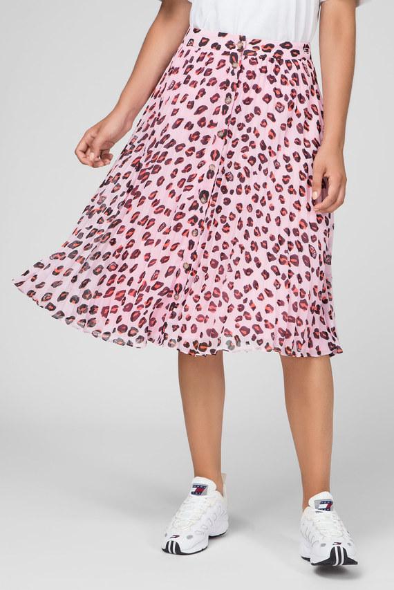 Женская розовая юбка с принтом TJW LEOPARD PRINT