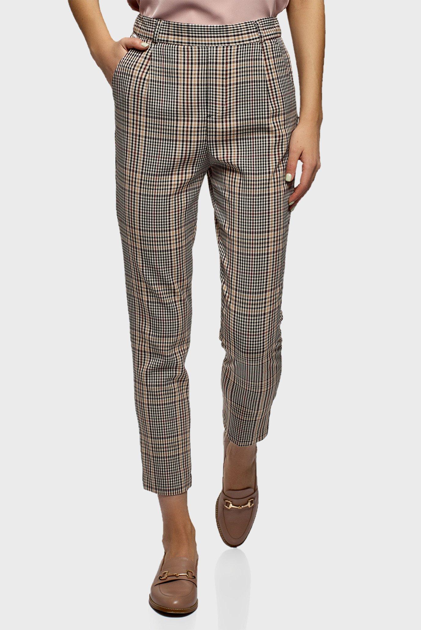 Жіночі брюки у клітинку 1