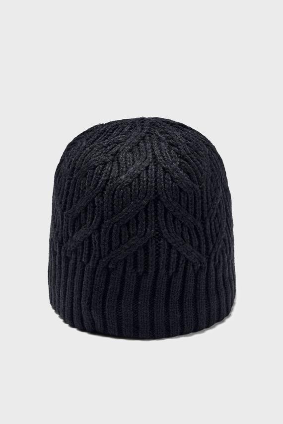 Женская черная шапка UA Around Town Beanie