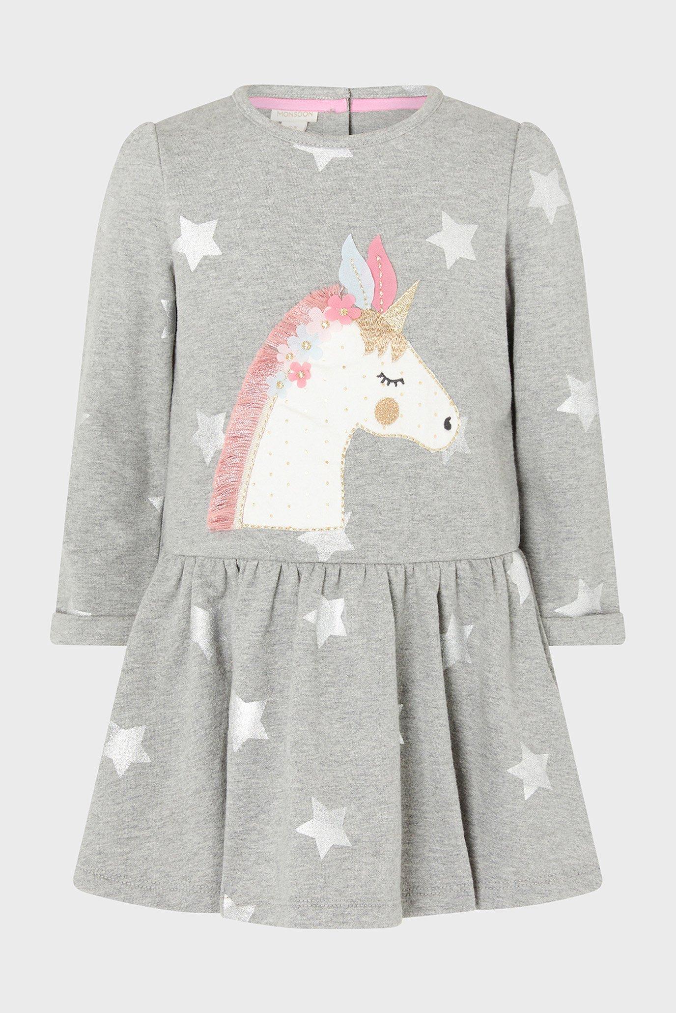 Дитяча сіра сукня GREY BABY UNICORN ST 1
