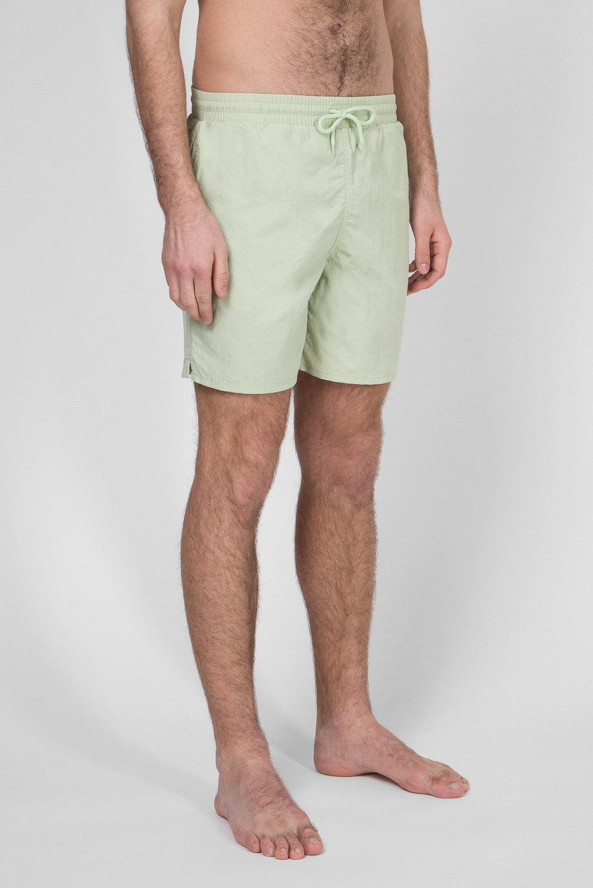 Мужские салатовые плавательные шорты