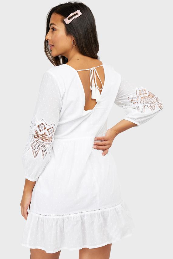 Женское белое пляжное платье