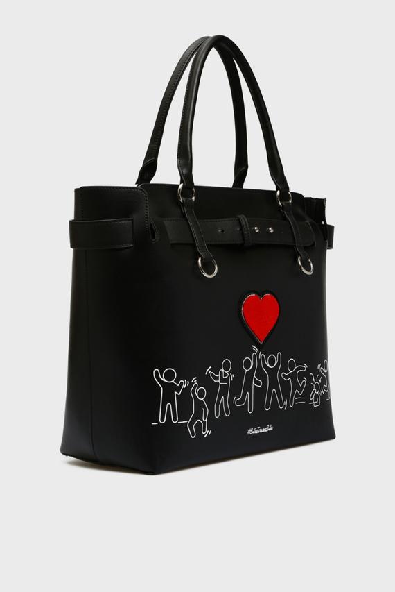 Женская черная сумка на плечо FASHION REVIVAL