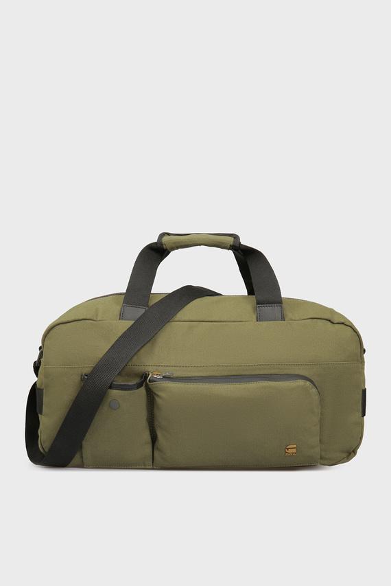 Мужская зеленая дорожная сумка