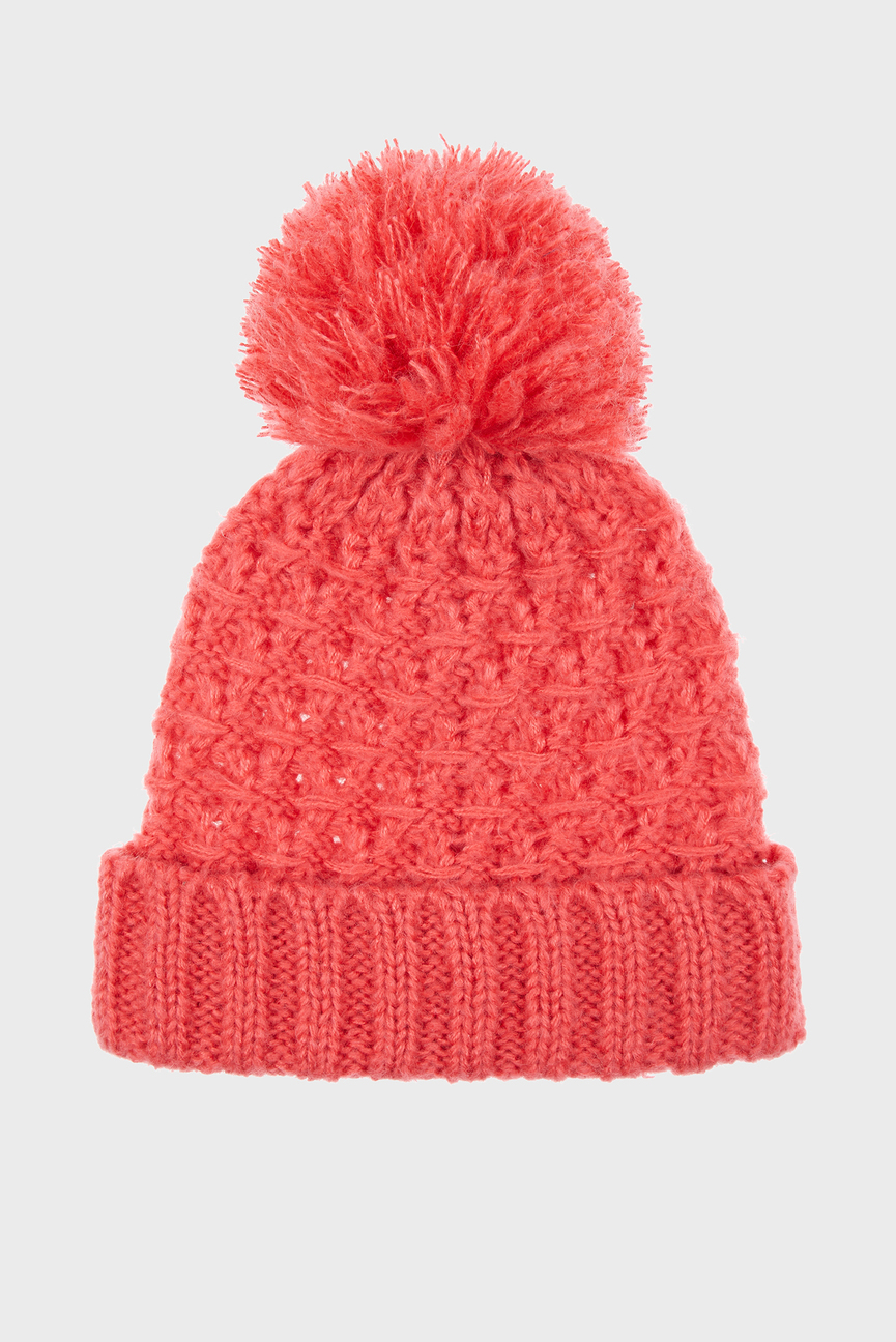 Женская коралловая шапка SGH LOFTY CABLE YARN