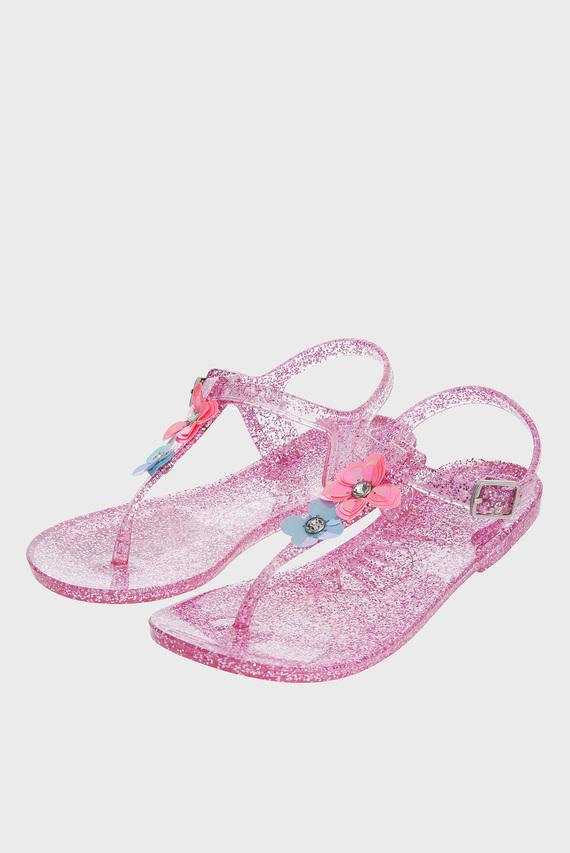 Детские розовые сандалии