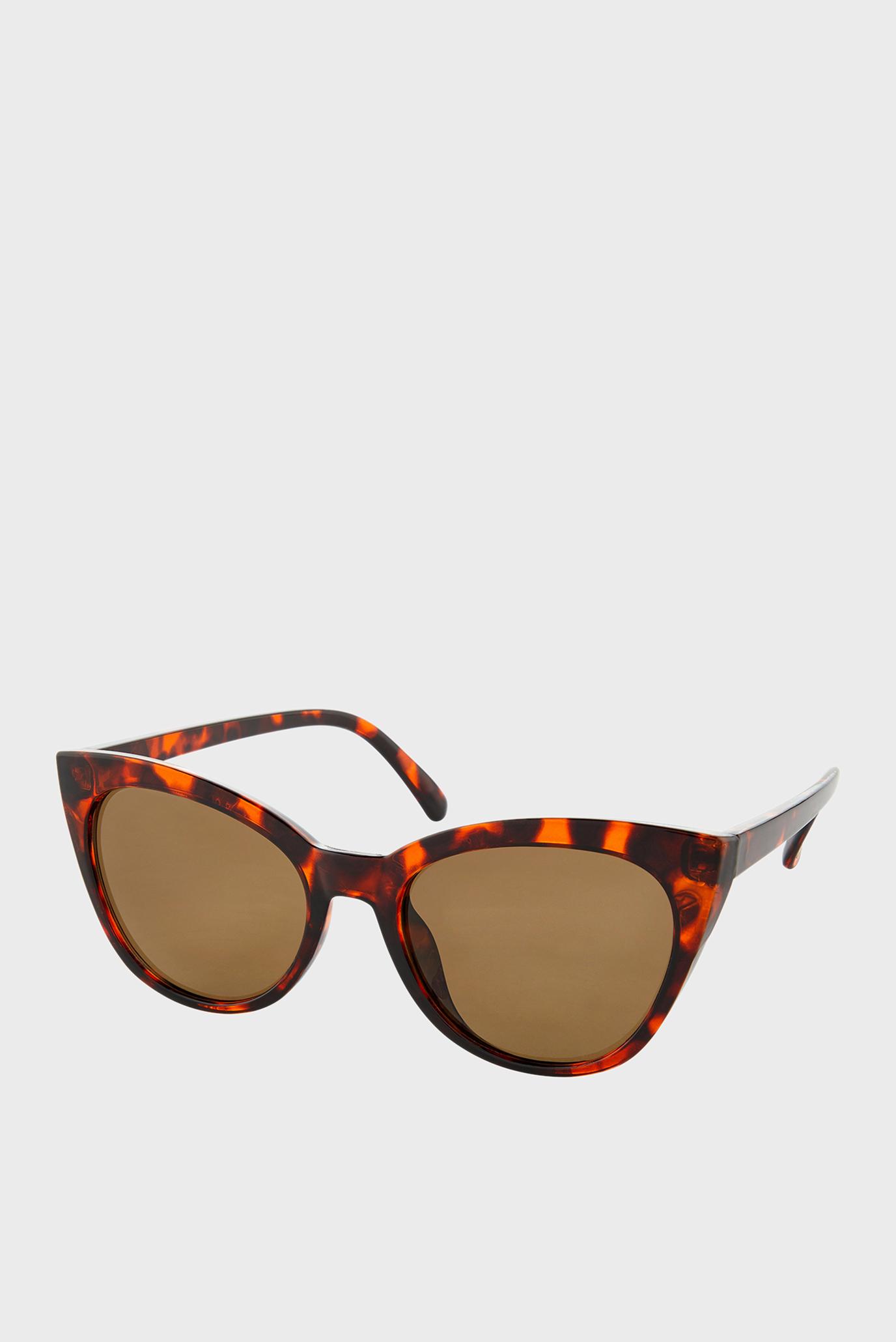 Жіночі коричневі сонцезахисні окуляри  AVA CLASSIC CATEYE 1