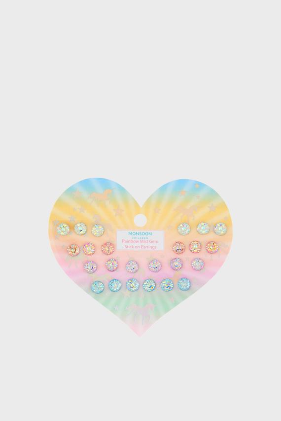 Детские серьги Rainbow Mist (12 пар)