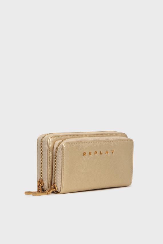 Женский золотистый кошелек