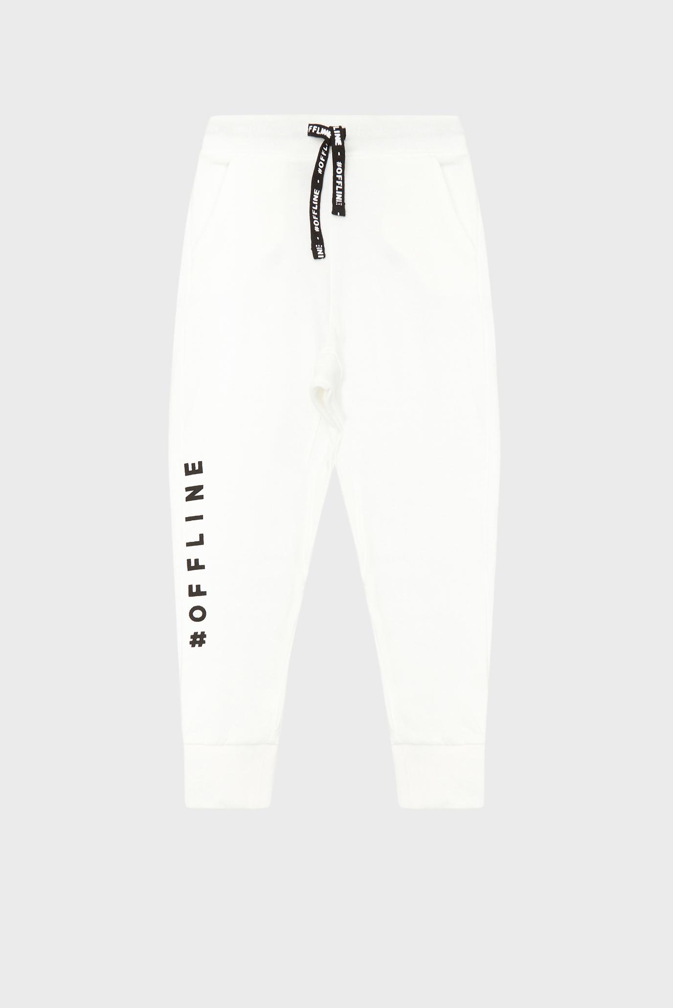 Детские белые спортивные брюки 1