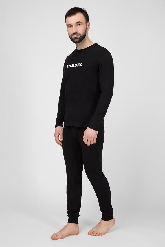 Мужская черная пижама (лонгслив, брюки) UMSET JUSTIN JULIO