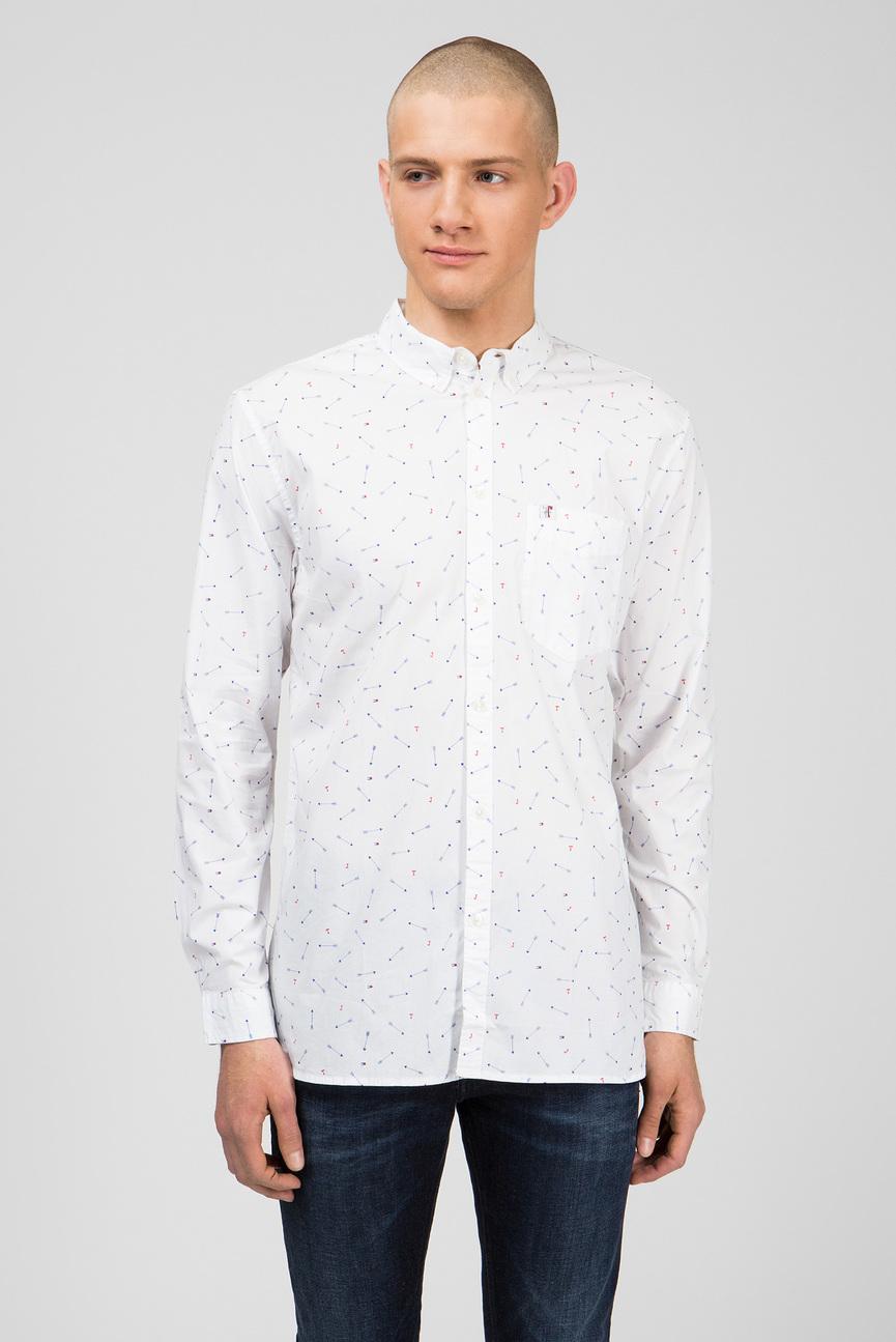 Мужская белая рубашка DITSY PRINT