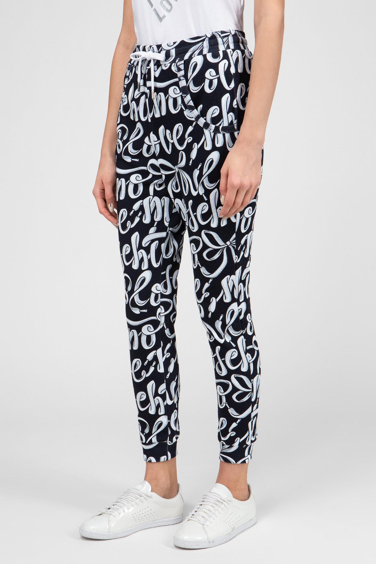 Купить Женские спортивные брюки с принтом Love Moschino Love Moschino W149700M40120003 – Киев, Украина. Цены в интернет магазине MD Fashion