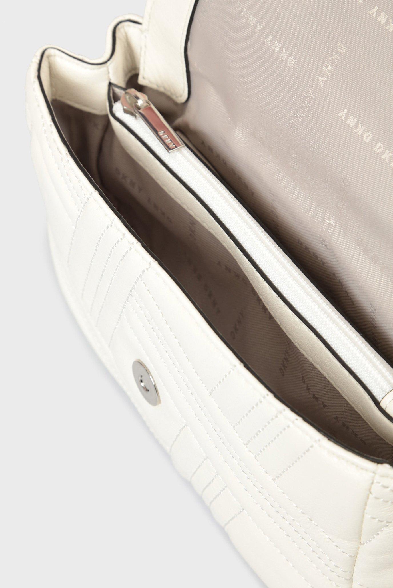 5ea59e7d60ee Купить Женская белая кожаная сумка на плечо ALLEN- MD DKNY DKNY R833B638 –  Киев, Украина. Цены в ...
