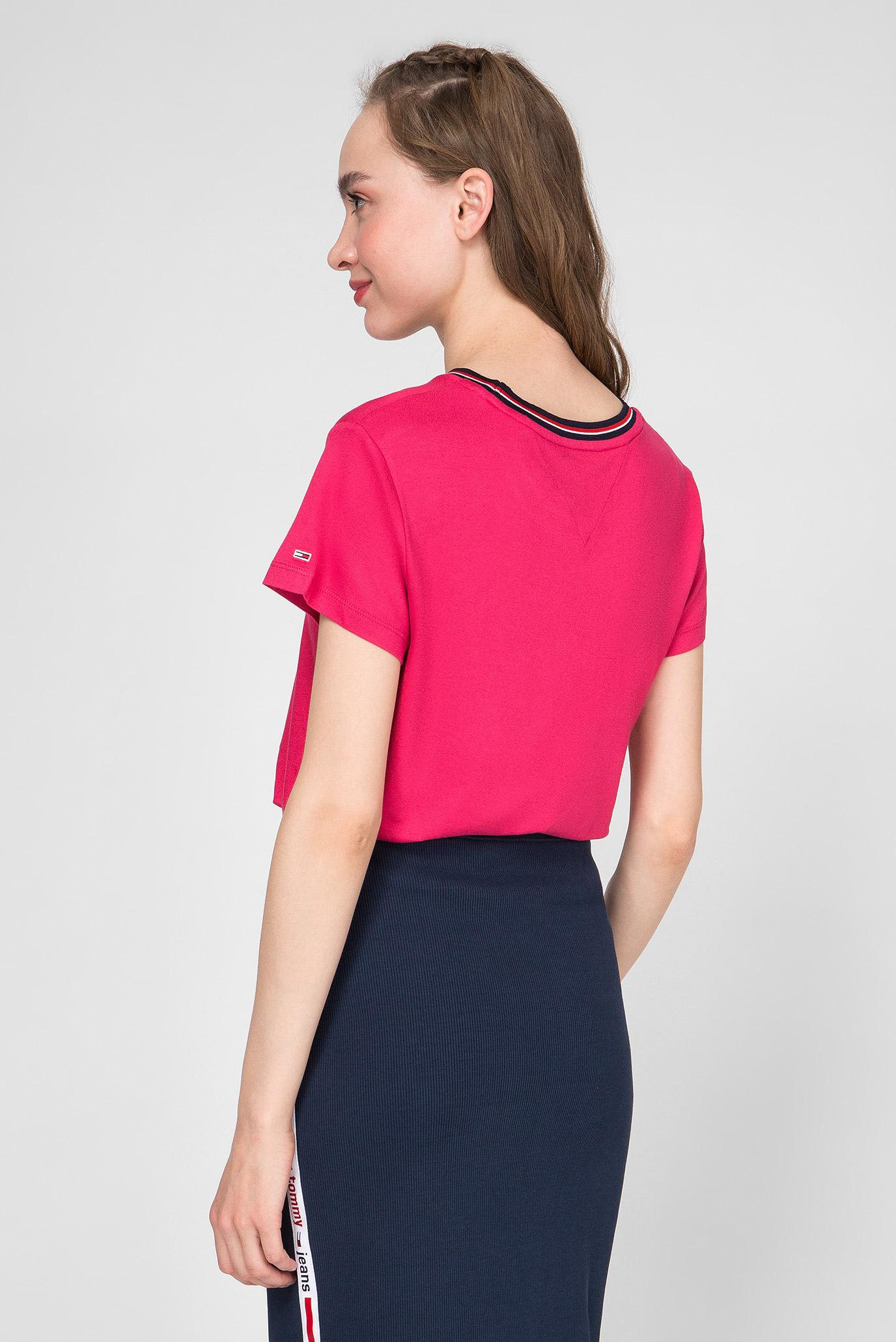 Жіноча рожева футболка TJW RIB NECK Tommy Hilfiger