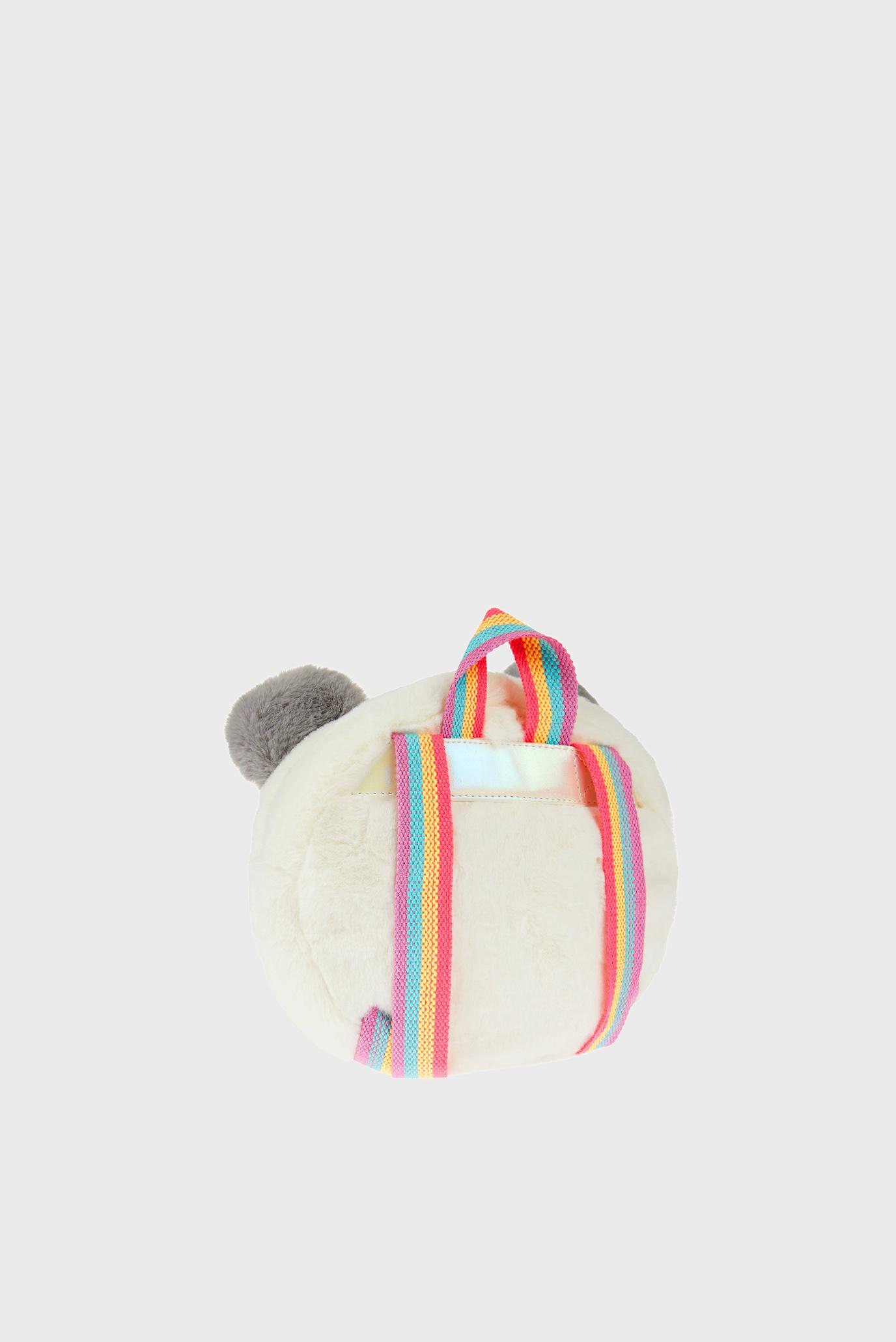 Детский белый рюкзак FLUFFY PANDA BACKPAC Accessorize
