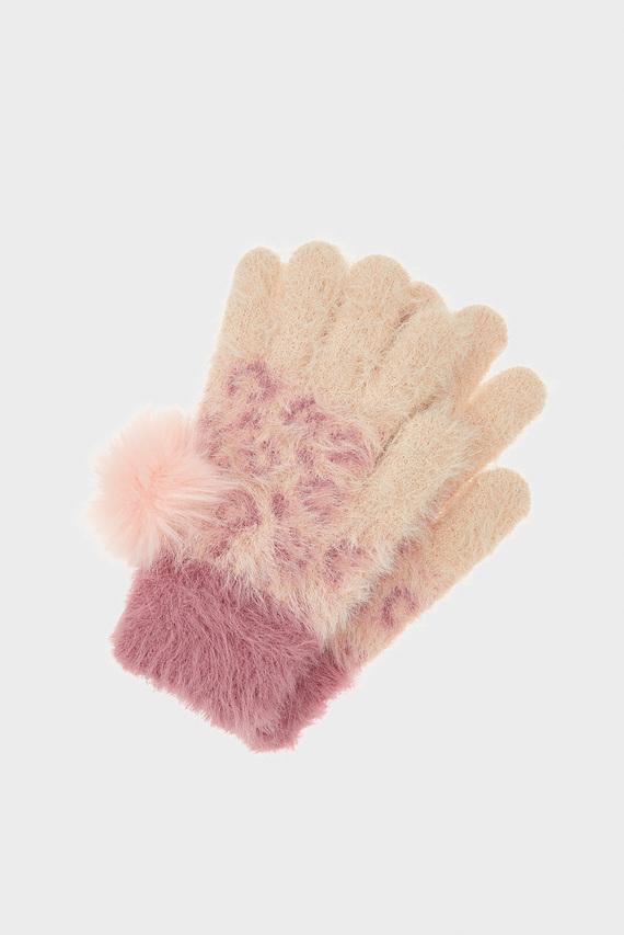 Детские розовые перчатки ANIMAL PRINT GLOVE