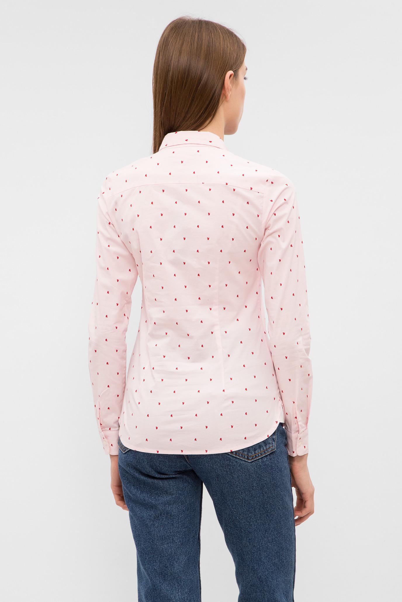 Купить Женская розовая рубашка с принтом Tommy Hilfiger Tommy Hilfiger WW0WW20545 – Киев, Украина. Цены в интернет магазине MD Fashion