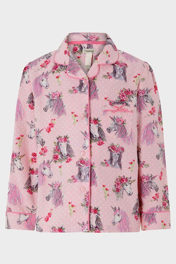 Детская розовая пижама NARA HORSE FLANNEL P