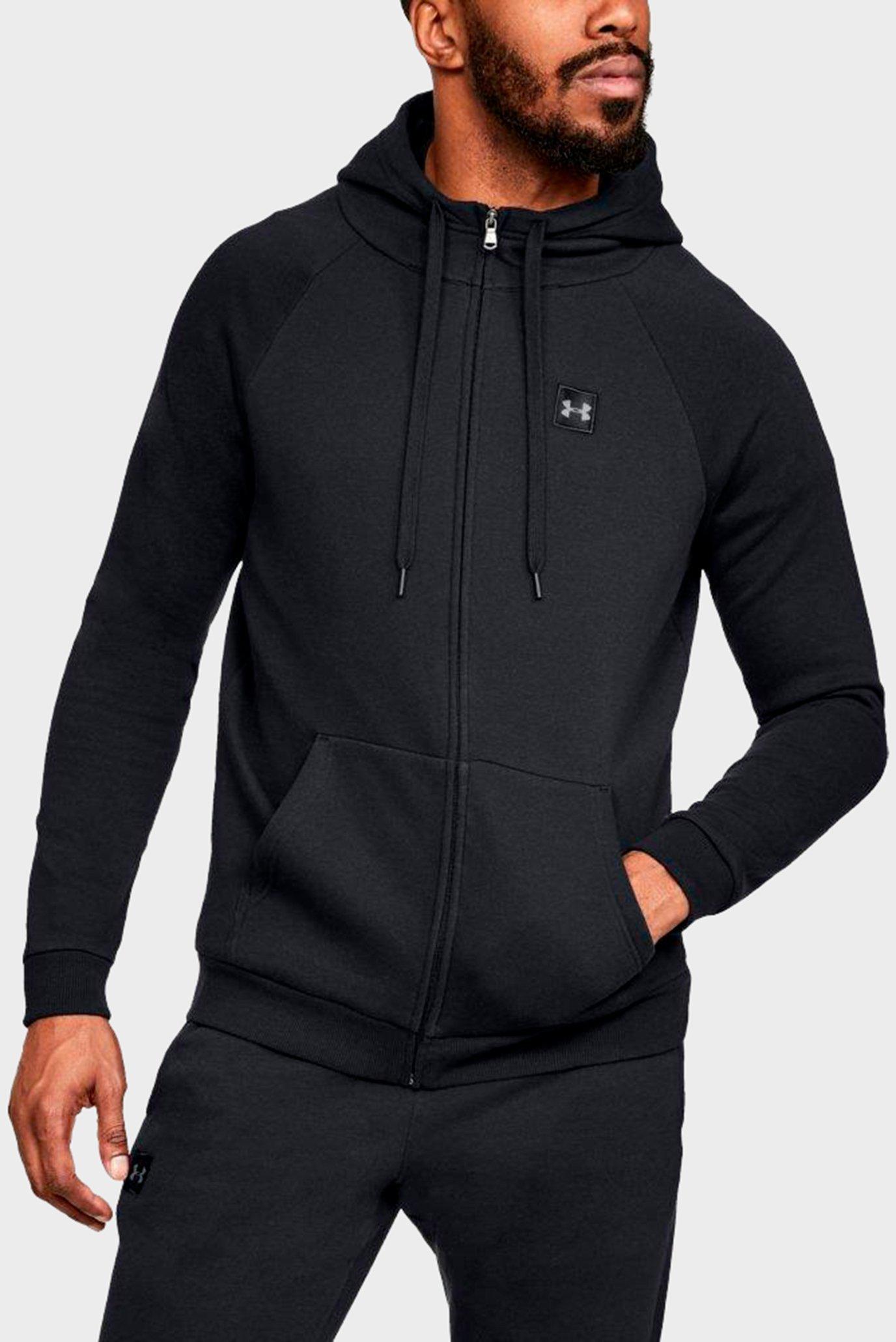 Купить Мужское черное худи RIVAL FLEECE FZ HOODY Under Armour Under Armour 1320737-001 – Киев, Украина. Цены в интернет магазине MD Fashion