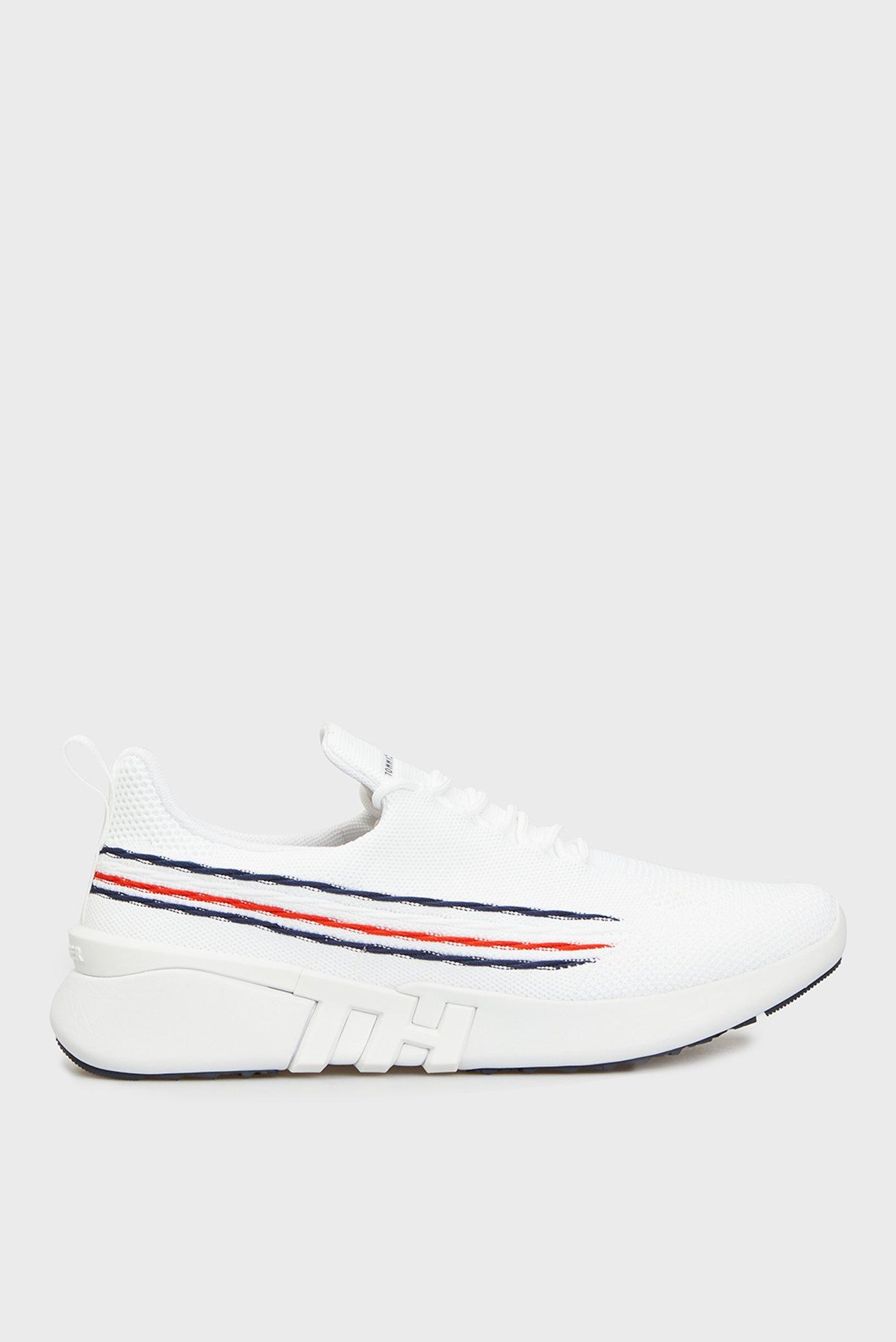 Мужские белые кроссовки SUSTAINABLE KNIT RUNNER STRIPES 1