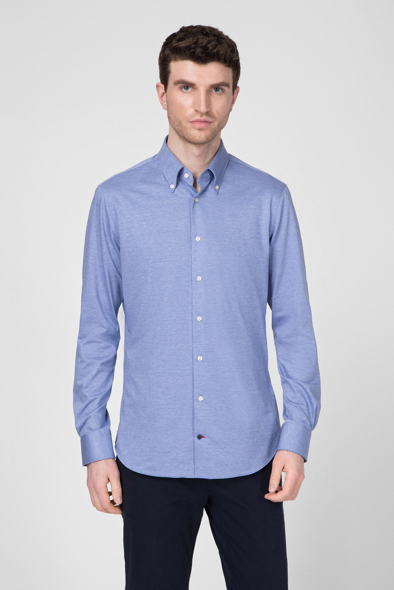 Мужская голубая рубашка Tommy Hilfiger