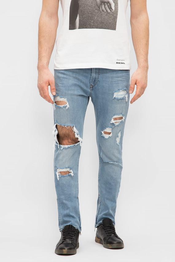 Мужские голубые джинсы DEEPZIP