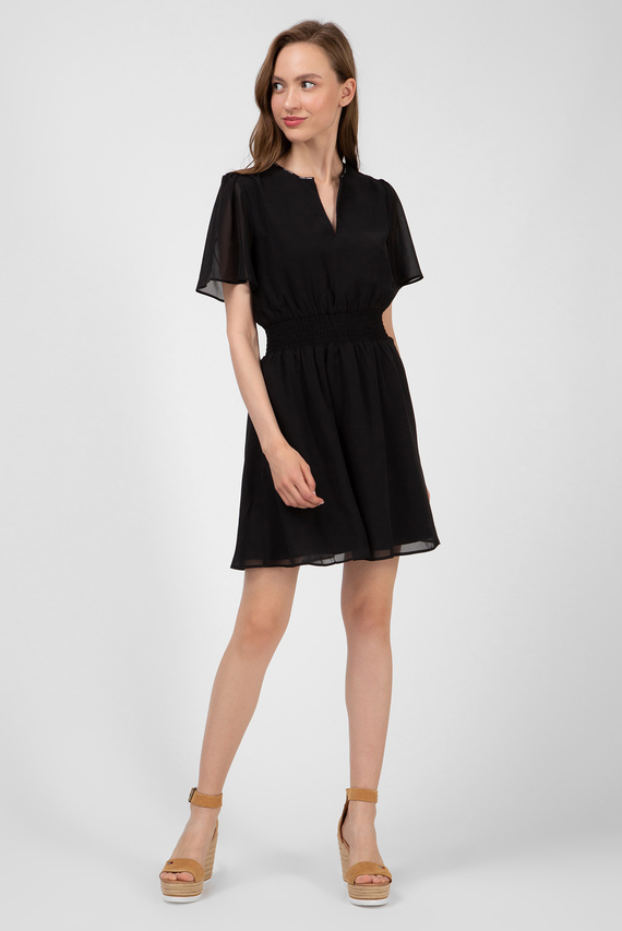 Женское черное платье TJW SHORTSLEEVE SMOCK