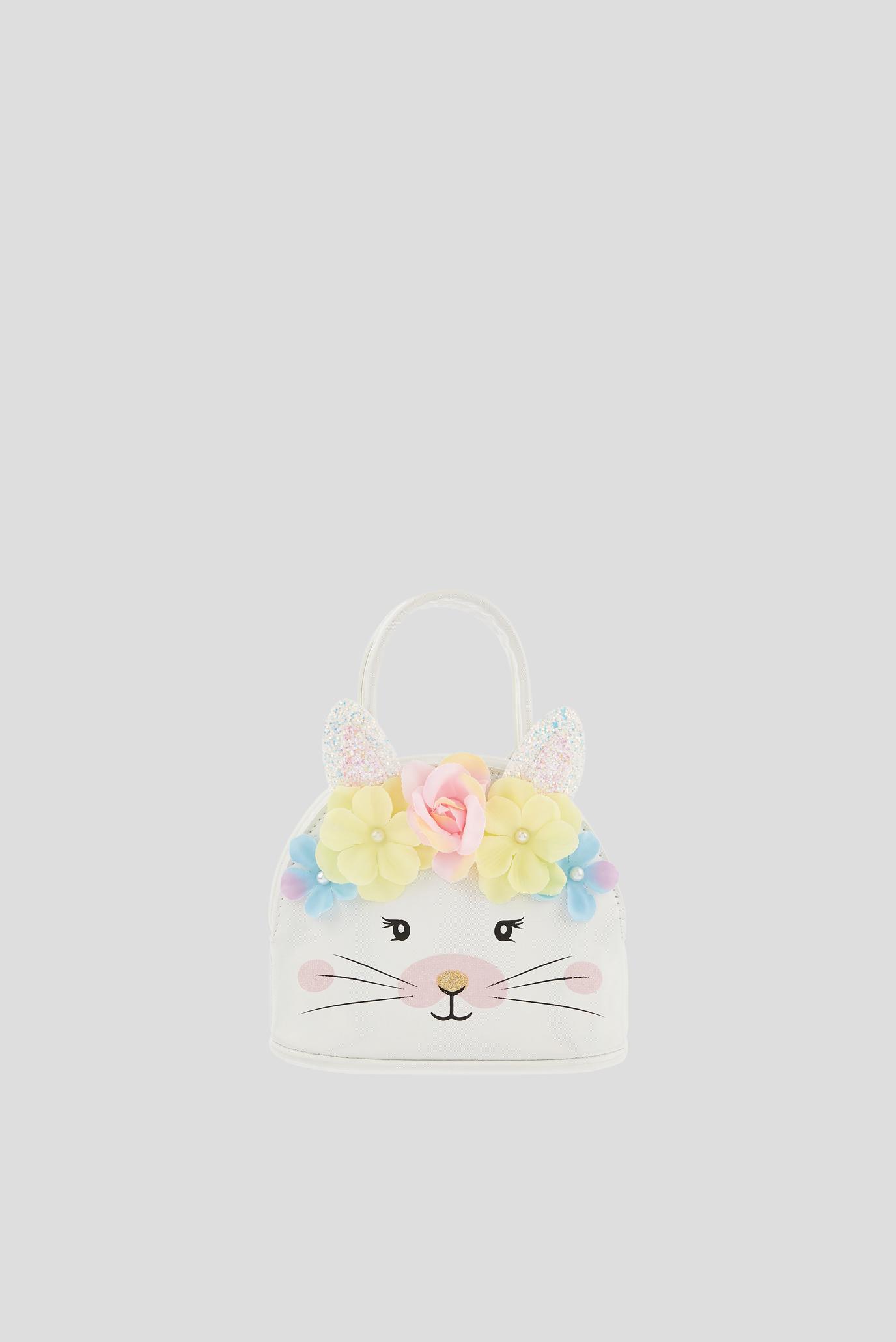 Дитяча біла сумка FLOWER BUNNY 1