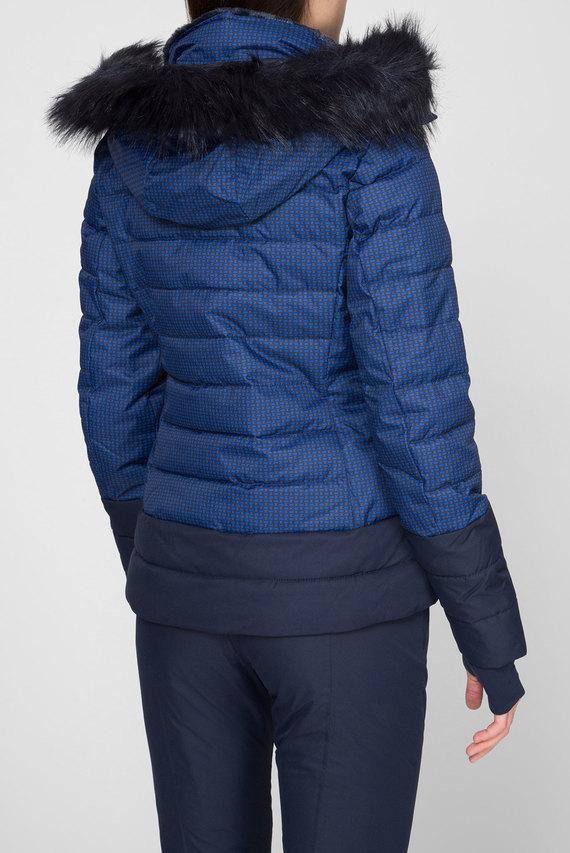 Женская темно-синяя лыжная куртка