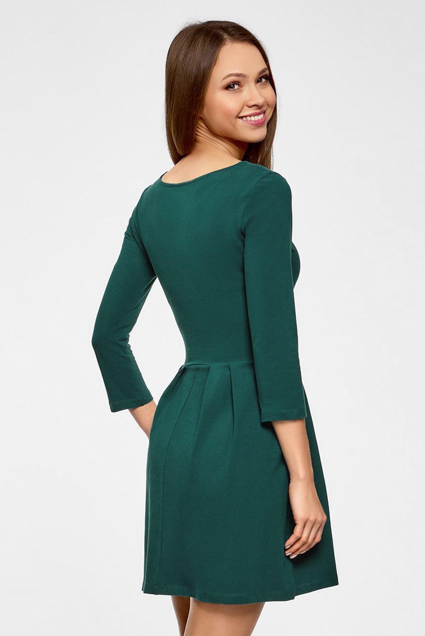 Женское зеленое платье Oodji