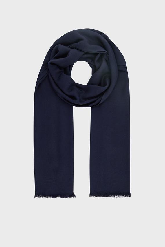 Женский синий шарф PLAIN WOVEN
