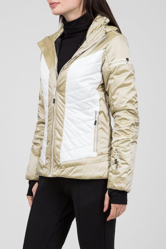 Женская золотистая лыжная куртка