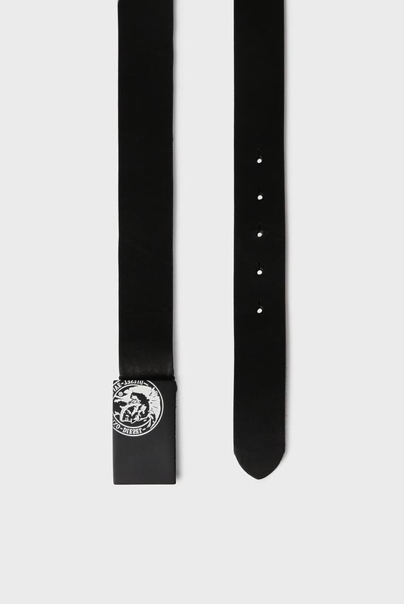 Мужской черный кожаный ремень B-MOQUE