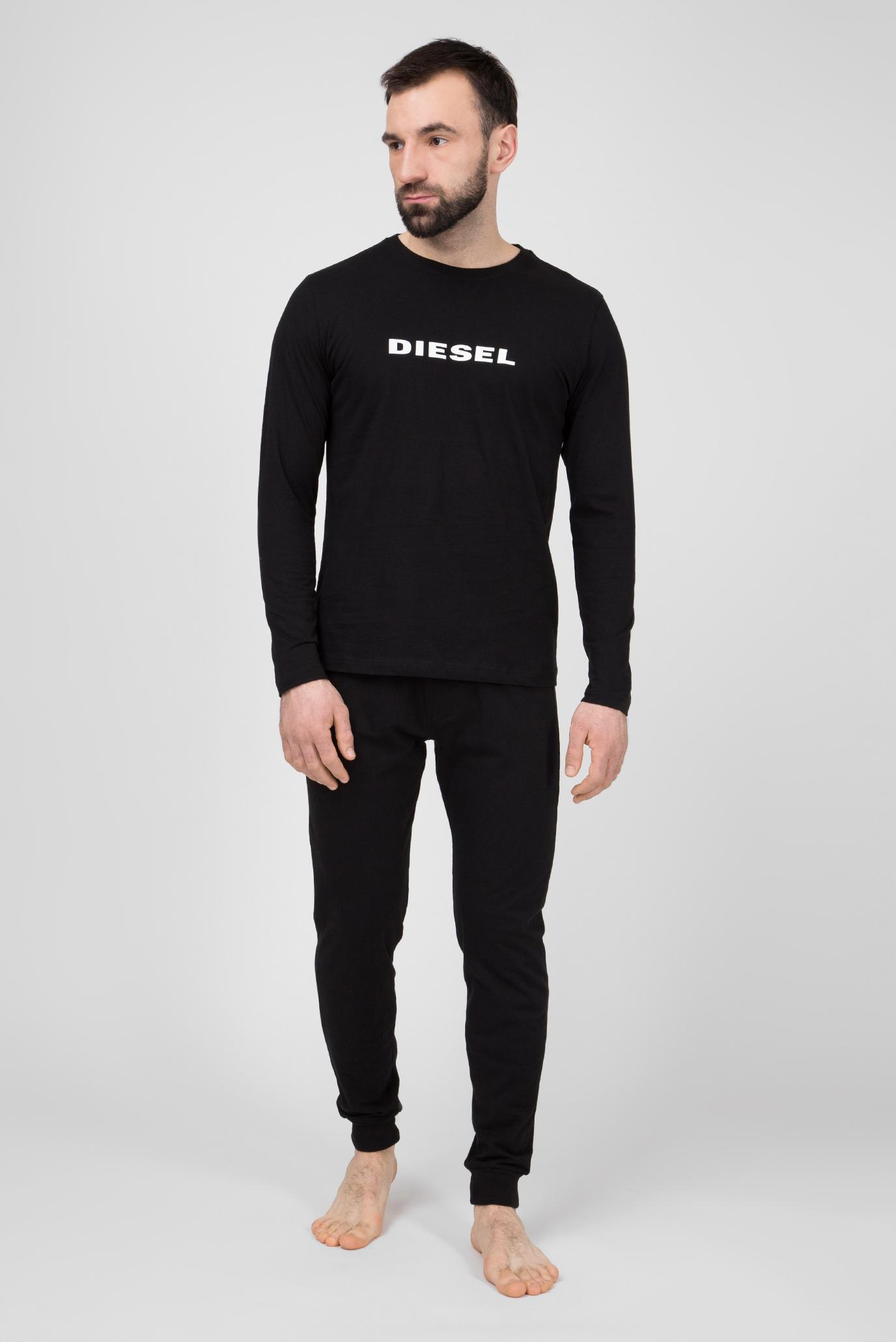 Купить Мужская черная пижама (лонгслив 566057d37cb14