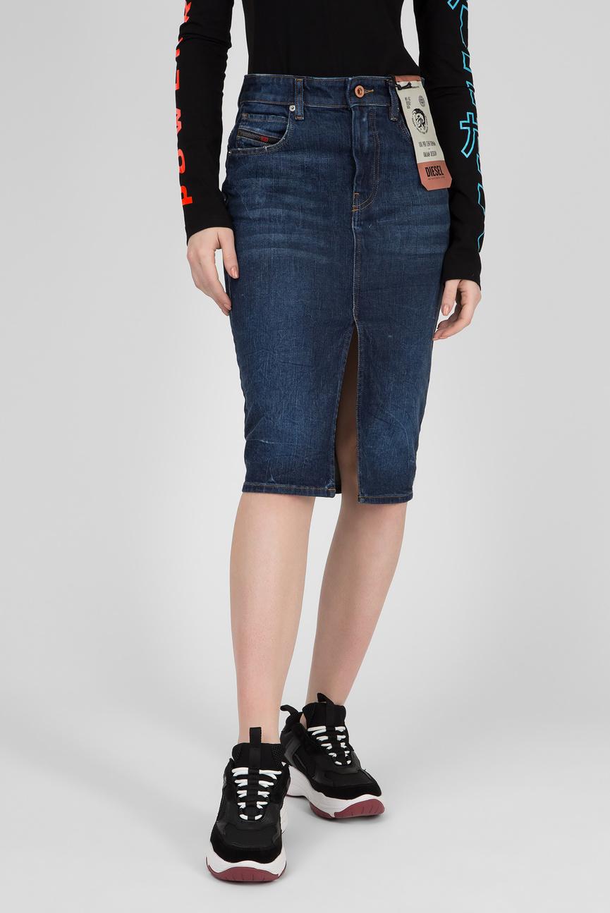 Женская синяя джинсовая юбка DE-PENCIL