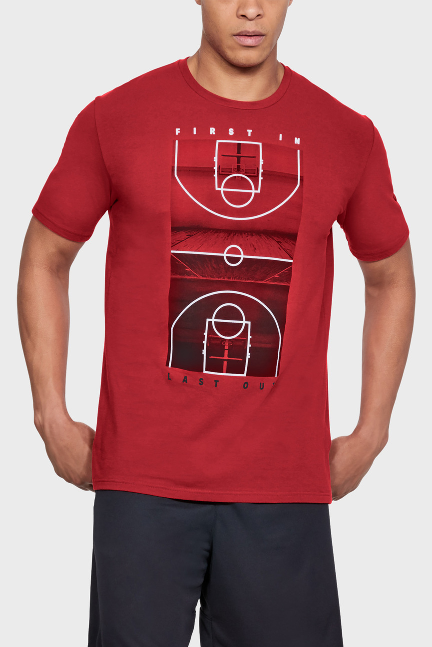 Мужская красная футболка UA BBall FILO SS