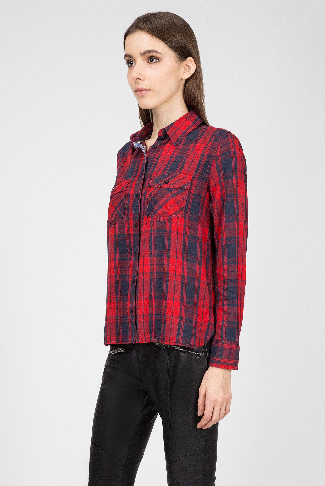 Купить Женская красная рубашка в клетку MEMPHIS Pepe Jeans Pepe Jeans PL303142 – Киев, Украина. Цены в интернет магазине MD Fashion