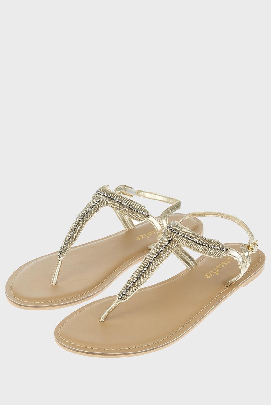 Женские золотистые сандалии MIA SIMPLE