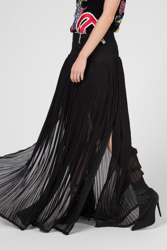 Женская черная юбка-плиссе O-TERUPE GONNA