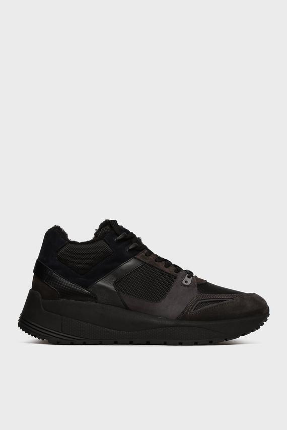 Мужские черные замшевые кроссовки Lisandro