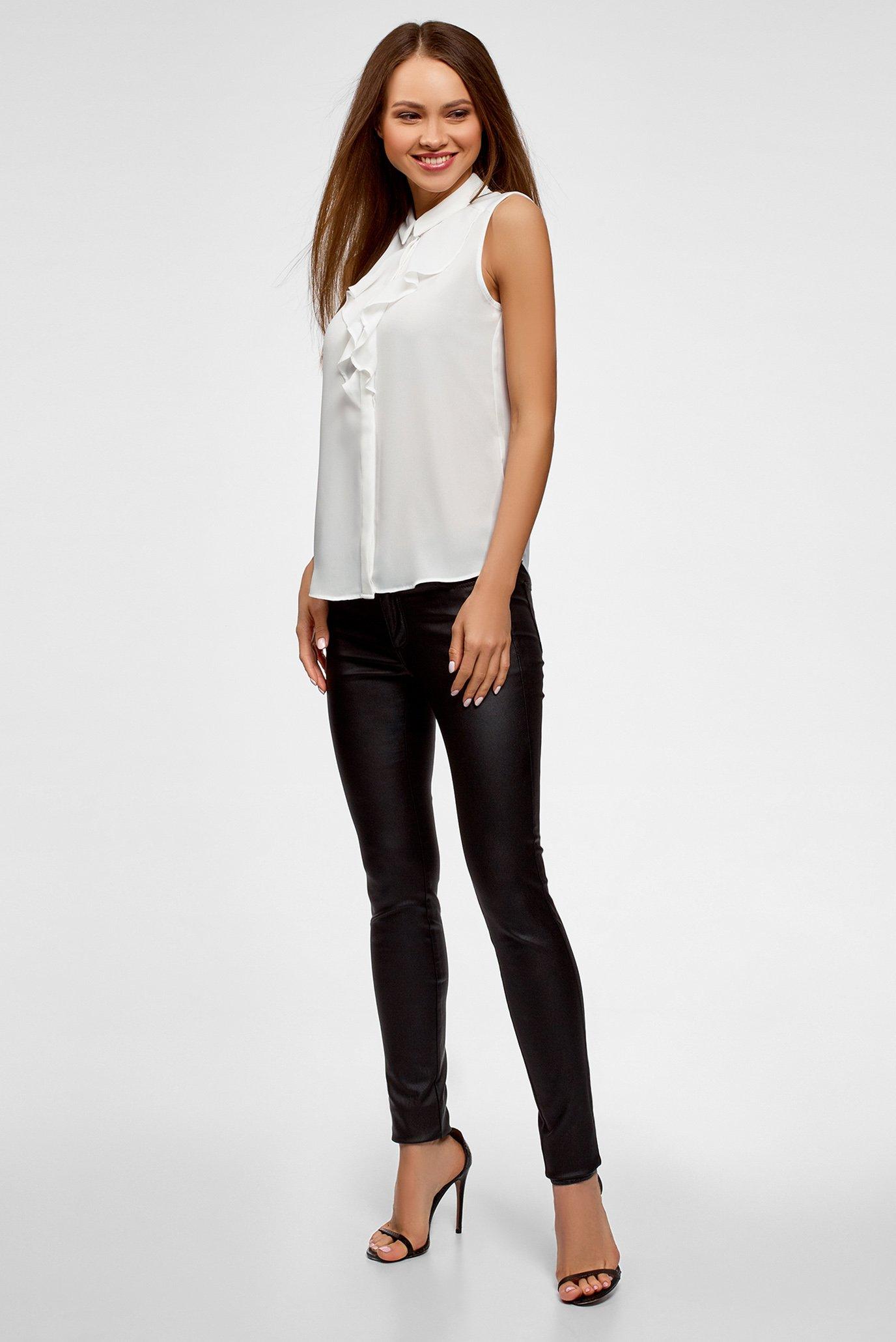 Купить Женская белая блуза Oodji Oodji 24911001B/36215/1200N – Киев, Украина. Цены в интернет магазине MD Fashion