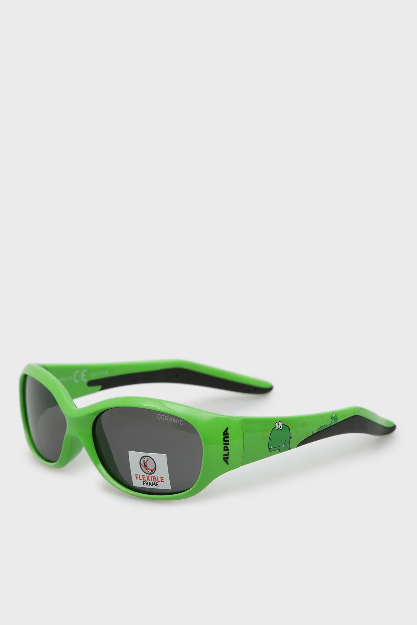 Дитячі зелені сонцезахисні окуляри Flexxy Kids 1