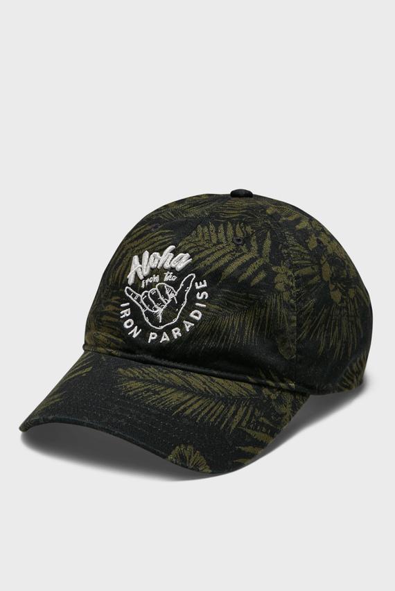 Зеленая кепка с узором UA Project Rock Cotton Cap