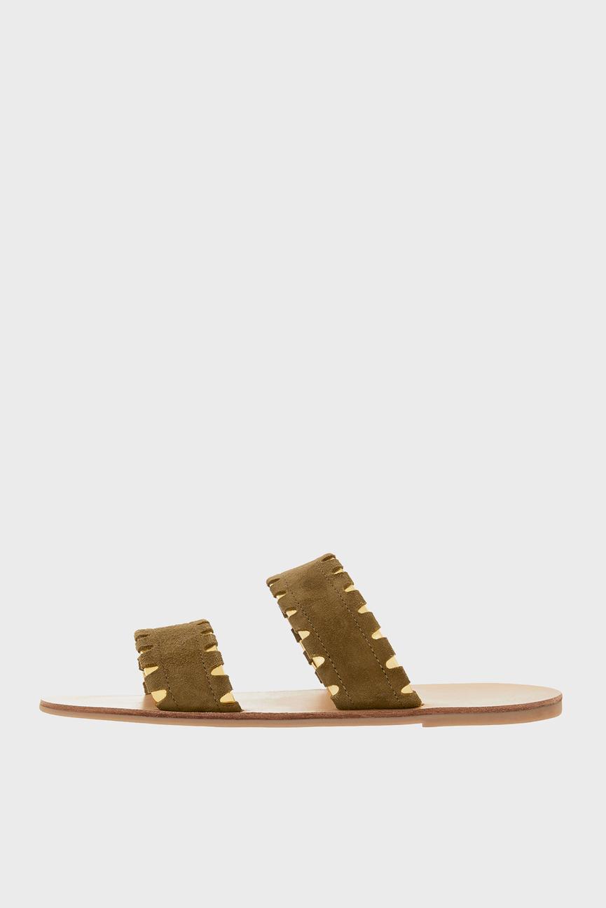 Женские зеленые сандалии SEATTLE DOUBLE STRAP