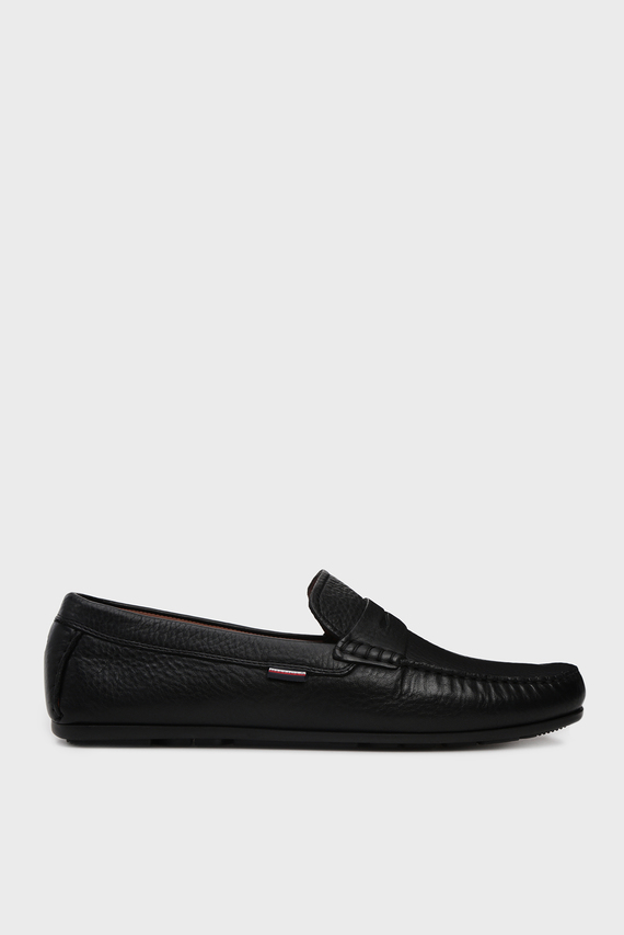 Мужские черные кожаные мокасины CLASSIC