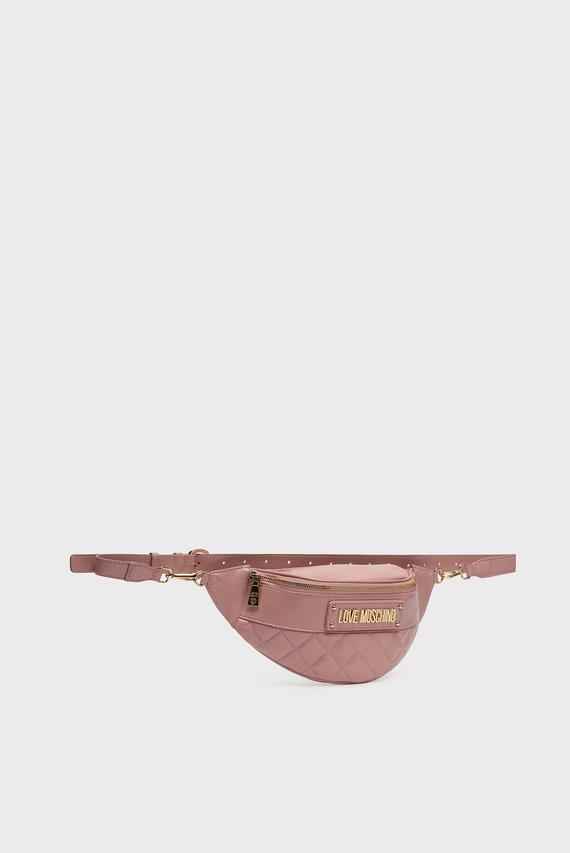 Женская пудровая поясная сумка